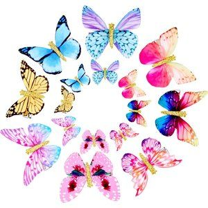 16 Pieces Butterfly Clips Baby Hair Clips